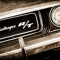 1970 Dodge Challenger Rt Convertible Grille Emblem by Jill Reger