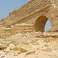 Caesarea Israel ancient Roman remains Print by Robert Birkenes