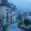Misty Dawn In Saint Cirq Lapopie by Brian Jannsen