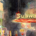 42nd Street Subway Watercolor Painting Of Nyc by Beverly Brown Prints