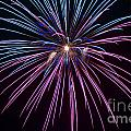 4th of July 2014 Fireworks Bridgeport Hill Clarksburg WV 1 Print by Howard Tenke