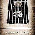 1960 Volkswagen Vw Porsche 356 Carrera Gs Gt Replica Emblem by Jill Reger