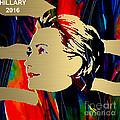 Hillary Clinton Gold Series by Marvin Blaine