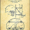 Vintage Basketball Goal Patent From 1944 by Aged Pixel