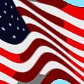50 Star American Flag Closeup Abstract 7 by L Brown
