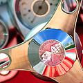 1960 Chevrolet Corvette Steering Wheel Emblem by Jill Reger