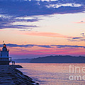 Sunrise at Spring Point Lighthouse Print by Diane Diederich