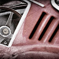 1966 Ferrari 275 Gtb Steering Wheel Emblem Print by Jill Reger