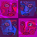 750 -  Faces pink blue