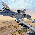 A-10 Over Baghdad by Stu Shepherd