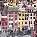 A Bird's Eye View Of Cinque Terre by Quin Sweetman