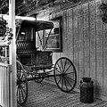 A Buggy On A Porch Bw by Mel Steinhauer