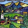 A Folksy Swiss Town by Monica Engeler