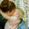 A Goodnight Hug  by Mary Stevenson Cassatt