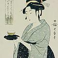A Half Length Portrait Of Naniwaya Okita by Kitagawa Utamaro