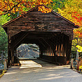 A Kancamagus Gem - Albany Covered Bridge Nh by Thomas Schoeller