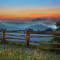 A New Beginning - Blue Ridge Parkway Sunrise I by Dan Carmichael