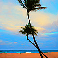 A Painting Palm Trees Florida