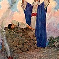 Abraham And Isaac On Mount Moriah by William Henry Margetson
