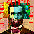 Abraham Lincoln All Men Are Created Equal 2014020502 by Wingsdomain Art and Photography