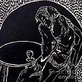 Absinthe Drinker After Picasso by Caroline Street
