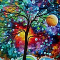 Abstract Art Original Colorful Landscape Painting A Moment In Time By Madart by Megan Duncanson
