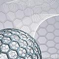 Abstract Background With Buckyball by Christos Georghiou