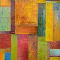 Abstract Color Study Collage L by Michelle Calkins