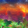 Abstract - Crayon - Utopia Print by Mike Savad