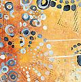 Abstract Decorative Art Original Circles Trendy Painting By Madart Studios by Megan Duncanson