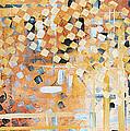 Abstract Decorative Art Original Diamond Checkers Trendy Painting By Madart Studios by Megan Duncanson