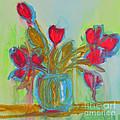 Abstract Flowers Print by Patricia Awapara