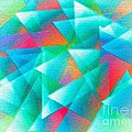 Abstract Geometry Of Triangles In Digital Art by Mario Perez