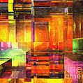 Abstract Glass - 19052013 - AMCG Print by Michael C Geraghty