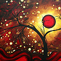 Abstract Landscape Glowing Orb By Madart by Megan Duncanson