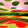Abstract Landscape Of Happiness by Amy Vangsgard