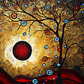 Abstract Original Gold Textured Painting Frosted Gold By Madart by Megan Duncanson