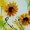 Abstract Sunflowers 2 by Ismeta Gruenwald