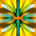 Abstract YellowTree Symmetry Print by Amy Vangsgard