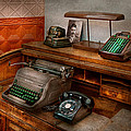 Accountant - Typewriter - The Accountants Office by Mike Savad
