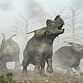 Achelousauruses by Daniel Eskridge