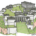 Acropolis Of Athens Restored by Calvin Durham
