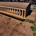 Aerial Photography Of The Parthenon by Dan Sproul