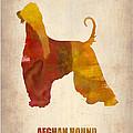 Afghan Hound Poster Print by Naxart Studio