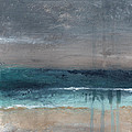 After The Storm- Abstract Beach Landscape by Linda Woods