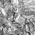 Agony In The Garden From The 'great Passion' Series by Albrecht Duerer