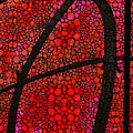 Ah - Red Stone Rock'd Art By Sharon Cummings by Sharon Cummings
