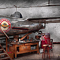Airplane - The Repair Hanger  by Mike Savad