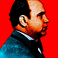 Al Capone C28169 - Red - Painterly - Text by Wingsdomain Art and Photography