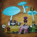 Alice In Wonderland Art - Mad Hatter's Tea Party I by Charlene Murray Zatloukal
